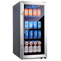 Beer Fridge Beverage Fridge 100 Can Drinks Fridge Beverage Cooler 15 Inch Beer Cooler Beverage Refrigerator Drink Cooler