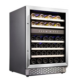 Built in Wine Cooler Fridge 46 Bottle Under Counter Wine Fridge Cabinet Dual Zone Freestanding Wine Cooler Cabinet