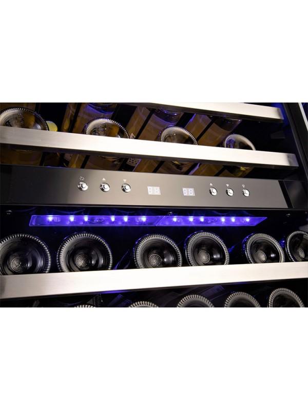 Built in Wine Cooler Fridge 46 Bottle Under Counter Wine Fridge Cabinet Dual Zone Freestanding Wine Cooler Cabinet