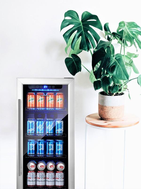 Beer Fridge Beverage Fridge 100 Can Drinks Fridge Beverage Cooler 15 Inch Beer Cooler Beverage Refrigerator Drink Cooler
