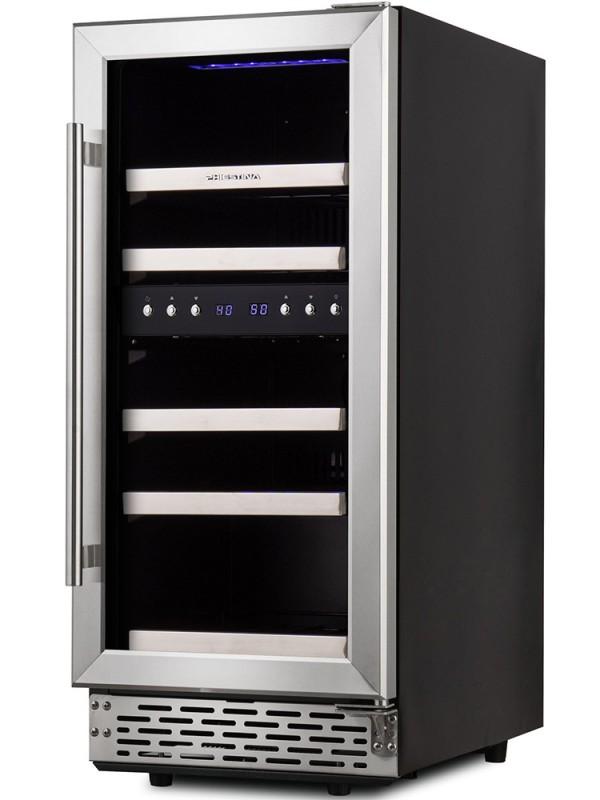 15 Inch Built In Wine Cooler 29 Bottle Under Counter Wine Cooler Refrigerator Dual Zone Wine Cooler Integrated Wine Cabinet